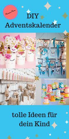 DIY advent calendar crafting for your child - Adventskalender - Welcome Crafts Diy Gifts For Dad, Diy Gifts For Friends, Christmas Art, Christmas Gifts, Xmas, Easy Cupcake Recipes, Diy Advent Calendar, Paper Crafts, Diy Crafts