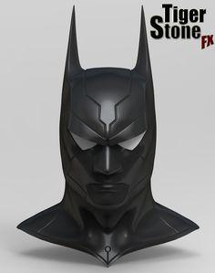 Custom design Batman Beyond inspired cowl sculpt - Tiger Stone FX