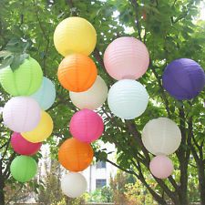 "1 5 or 10pcs 8"" Round Paper Lanterns Lamp Shade Wedding Birthday Party Decor"