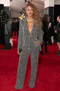 See All the 2018 Grammy Awards Red Carpet Arrivals - Eve from InStyle.com