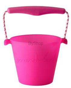 Scrunch bucket Zwijane wiaderko silikonowe Różowe