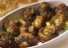 Easy roasted garlic butter mushrooms recipe - these will disappear in minutes! The holy grail of delicious mushroom recipes.To Make this Recipe You'Il Cheese Appetizers, Best Appetizers, Appetizer Recipes, Easy Cold Finger Foods, Pain Artisanal, Garlic Butter Mushrooms, Artisan Bread Recipes, Recipe For 4, Mushroom Recipes