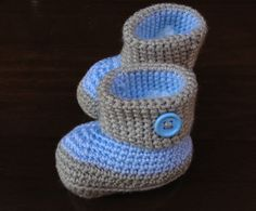 #botitas de #ganchillo para #bebé #niños #kids #crochet #handmade #tricot #shoes