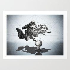 †† get brand new art print †† http://society6.com/product/think-boy_print#1=45