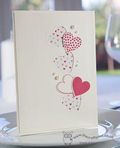 Valentine hearts a flutter by stampin up Valentines Day Cards Handmade, Wedding Cards Handmade, Valentines Diy, Valentines Hearts, Tarjetas Diy, Diy Wedding Stationery, Karten Diy, Ideias Diy, Valentine's Day Diy