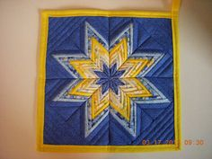 Handnade Folded Quilted Star Hot Pad Pot Holder by LoveToSewBags, $12.00