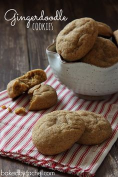 Gingerdoodle Cookies Recipe from bakedbyrachel.com Soft gingerbread snickerdoodle style cookies. A must make! @Rachel {Baked by Rachel}