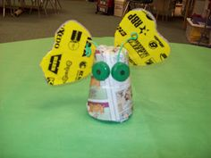 Create litter bugs with trash or recyclable materials! Recycling or earth day project!