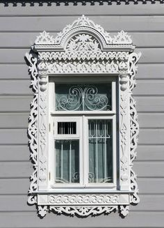 traditional decorative carved wood window frame + trim, russia | architectural details