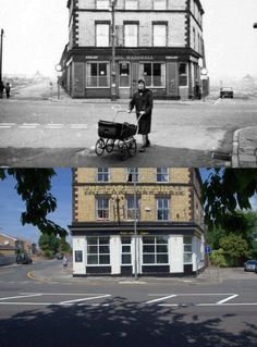 Earl Marshall Pub, still open..Earle Rd, Wavertree, 1960s and 2014