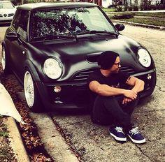 Flat Black Mini Cooper S #mini