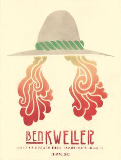 Ben Kweller    Poster by Brian Cvejanovich