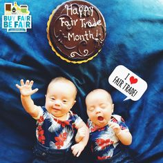 These two cuties hope your #FairTrade Month is off to a SWEET start! <3 Will you #BeFair this October? http://BeFair.org/ #cake #babies #adorable