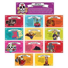 Day of the Dead Bulletin Board Set, Spanish: Teacher's Discovery Day Of The Dead Diy, Mexico Day Of The Dead, Primary Teaching, Teaching Aids, High School Spanish, Dead In Spanish, Spanish 101, Spanish Classroom Decor, Classroom Décor