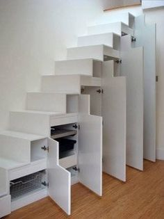 use the stairs for storage