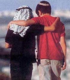 Palestinian and Israeli children....  This is how we are supposed to live.  The children get it! Adults need to get it!