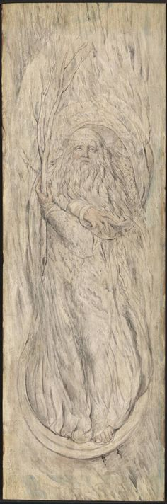 This image is a personification of winter, which is often depicted as an 'old man'. This may stem back to Norse or Ancient Greek mythologies that included male gods of winter. 'Winter' by William Blake Tate William Blake Paintings, William Blake Art, Tarot, Irish Painters, Mouth Drawing, English Poets, Pagan Art, Art Uk, Romanticism