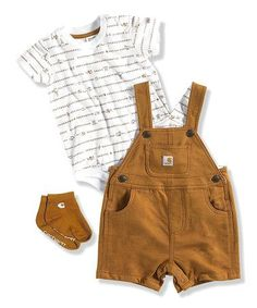Tan French Terry Bodysuit Set - Infant by Carhartt on #zulily Too Cute!