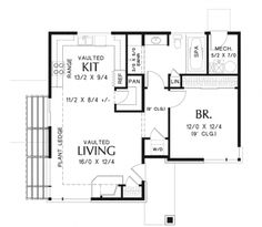 Home Plans HOMEPW76531 - 899 Square Feet, 1 Bedroom 1 Bathroom Contemporary Home with..Width: 34' Depth: 30'