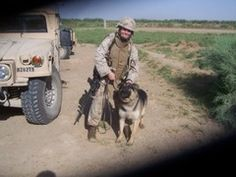 Cpl. Megan Leavey and bomb sniffing dog, Sgt. Rex