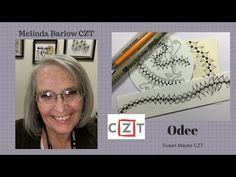 Zentangle Art Lesson #325 ODee tangle Pattern - YouTube