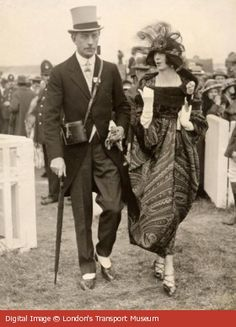 1921 Colonel and Mrs McGrath on Gold Cup Day at Royal Ascot