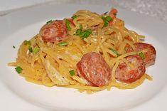 Wurst Pasta, ein sehr schönes Rezept aus der Kategorie Saucen. Bewertungen: 80. Durchschnitt: Ø 4,3.