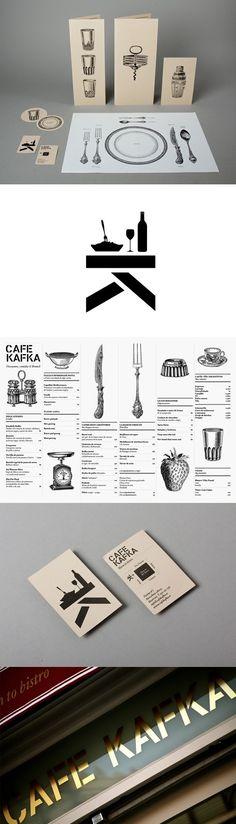 Café Kafka identity by Lo Siento, Barcalona in Restaurant