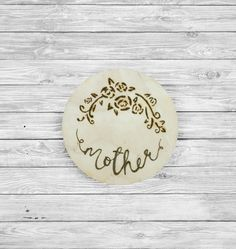 Personal Handmade Coaster Mother's Day l Mother l Mum l Special l Custom coasters l Drink Coasters l Pyrography l  £10 Etsy shop Design By Darcey