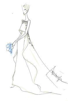B smart long dresses sketches