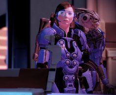 My in-game Mass Effect 2 Garrus and Female Shepard (Femshep) in Citadel by dinglouisa