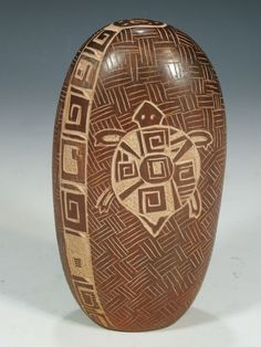 carved pottery burnished | Santa Clara Pueblo Hand Coiled Pottery