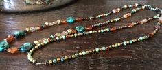 "38"" African Turquoise Jasper Endless Necklace by CiaoBellaFina on Etsy https://www.etsy.com/listing/512284907/38-african-turquoise-jasper-endless"