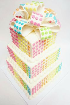Candy dots cake... takes me back to when I was a kid!
