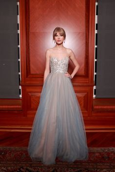 Taylor Swift Strapless Dress by Reem Acra