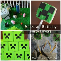 Minecraft Birthday Party Favors | MomItForward.com, Jr's having a Minecraft party