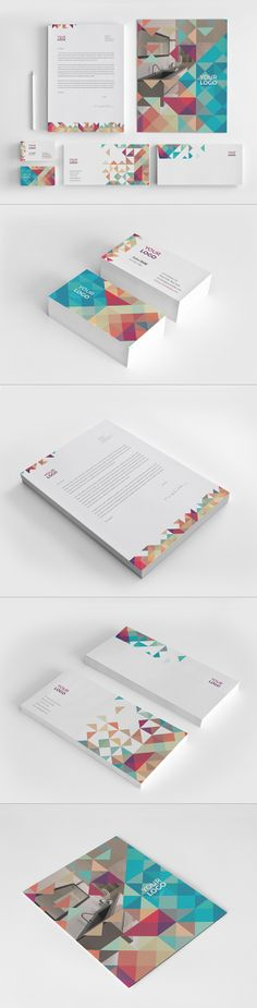 Minimal Colorful Stationery. Download here: http://graphicriver.net/item/minimal-colorful-stationery/8020240?ref=abradesign #design #stationery