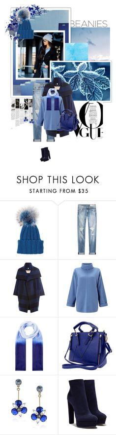 """""""Hat Head: Pom Pom Beanies"""" by sinesnsingularities ❤ liked on Polyvore featuring Inverni, rag & bone, Burberry, Jigsaw, Accessorize, Kate Spade, Casadei, contestentry, blueoutfits and pompombeanies"""