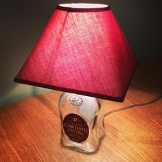 Cardhu whiskey glass Bottle turned into a light