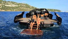 Take a look at this swanky Yacht that transforms into a floating party pad : Luxurylaunches Monaco Yacht Show, That Look, Take That, Ground Effects, Power Boats, Just Relax, French Riviera, Saint Tropez, Catamaran