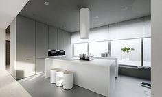 Grey and White Colour Home Interior Scheme