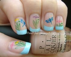 dragonflies!!  Easter nail art here: http://pinterest.com/SparklySharpFab/nail-art-easter-and-spring/