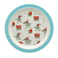 Cowboy Melamine Rim Plate | View All | CathKidston  sc 1 st  Pinterest & Tiny Trains Melamine Plate | kids | Pinterest | Babies