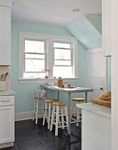 Aqua kitchen-like wall color