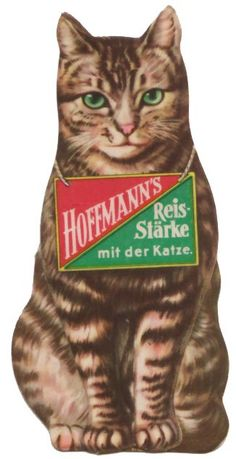 """Hoffman's Rice starch, with the cat""  ca. 1930s"