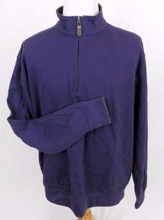 ORVIS Sweater XL Pima Cotton Purple Half Zipper Fly Fishing Outdoors Pullover #Orvis #12Zip