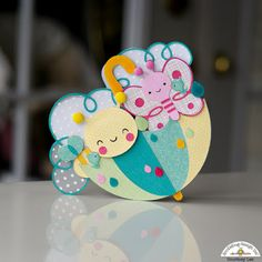 Doodlebug Design Inc Blog: NEW Spring Things Cut Files: Umbrella Shaped Card by Courtney Lee