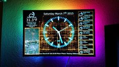 PiClock: an all in one clock, weather forecast and radar map on an LED monitor with cool LED mood lights. Diy Tech, Cool Tech, Diy Electronics, Electronics Projects, Electrical Projects, Computer Projects, Raspberry Projects, Fancy Clock, Weather Display