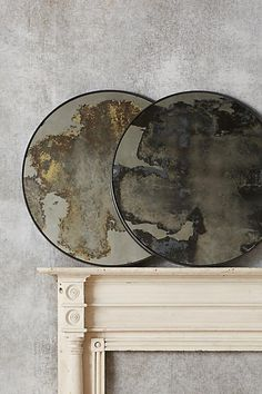 Color-Washed Circle Mirror - anthropologie.com