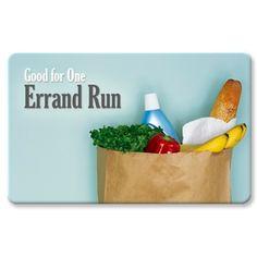 Errand Run | Favor Coupon Gift Card Keepsake - www.KindNotes.com